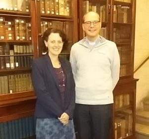 Alison Gray (L) with Neil Thorogood, Principal (R) 02/11/16